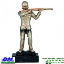 Trofeo Tiro al Plato 5546 deportivo premio escopeta diferentes alturas pallart tamaños chapa grabada