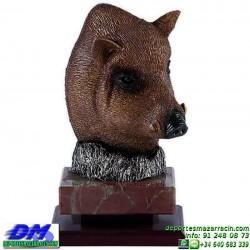 Trofeo de Caza 5551 cazador forma jabali premio diferentes alturas pallart tamaños chapa grabada