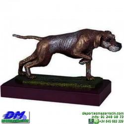 Trofeo de Caza 5552 cazador forma perro premio diferentes alturas pallart tamaños chapa grabada