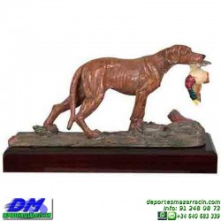 Trofeo de Caza 5556 cazador perro premio pato pallart chapa grabada