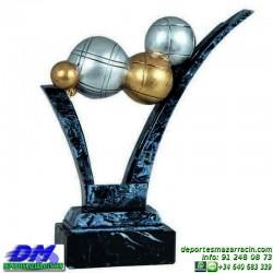 Trofeo Petanca 5558 bolas jugador premio diferentes alturas pallart tamaños chapa grabada