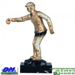 Trofeo Petanca 5559 bolas jugador premio diferentes alturas pallart tamaños chapa grabada