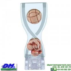Trofeo Petanca 5561 bolas jugador premio diferentes alturas pallart tamaños chapa grabada