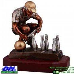 Trofeo Bolos 5570 bolas jugador premio pallart tamaños chapa grabada