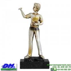 Trofeo Dardos 5579 diana jugador premio diferentes alturas pallart tamaños chapa grabada
