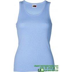 CAMISETA Tirante Mujer Economica JOYLU ESTEPONA 015 ALGODON color basica deporte entrenamiento grupo peña equipo
