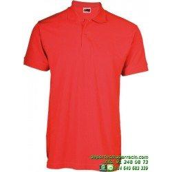 Polo Economico JOYLU MALAGA 020 ALGODON PIKE colores deporte botones MANGA CORTA entrenamiento grupo peña equipo futbol