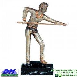 Trofeo Billar 5580 mesa taco jugador premio diferentes alturas pallart tamaños chapa grabada