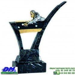 Trofeo Billar 5583 mesa taco jugador premio diferentes alturas pallart tamaños chapa grabada