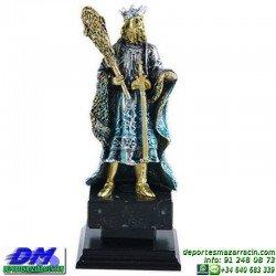 Trofeo Cartas 5585 rey mus tute premio diferentes alturas pallart bastos oros copas espadas baraja tamaños chapa grabada
