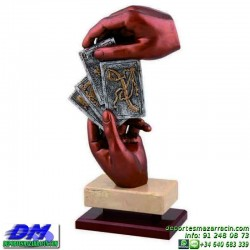 Trofeo Cartas 5600 mus tute brisca diferentes alturas pallart mano oros copas espadas bastos baraja tamaño chapa grabada
