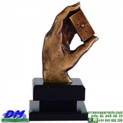Trofeo Domino 5603 fichas premio diferentes alturas pallart tamaños chapa grabada
