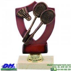 Trofeo Badminton 5614 volante premio diferentes alturas pallart tamaños chapa grabada