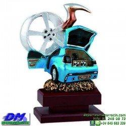 Trofeo Tuning 5629 motor coche tuning tunning piloto premio pallart chapa grabada