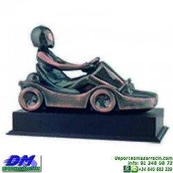 Trofeo Karting 5631 kart motor coche piloto karts premio pallart chapa grabada
