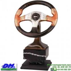 Trofeo Automovilismo 5633 motor coche volante carreras premio pallart diferentes alturas tamaños chapa grabada