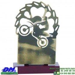 Trofeo Motocross 5638 motor metal motos casco carreras premio pallart diferentes alturas tamaños chapa grabada