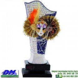 Trofeo Carnaval 5649 mascara disfraz fiesta premio pallart diferentes alturas tamaños chapa grabada