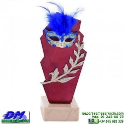 Trofeo Carnaval 5651 mascara disfraz fiesta premio pallart diferentes alturas tamaños chapa grabada