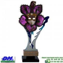Trofeo Carnaval 5652 mascara disfraz fiesta premio pallart diferentes alturas tamaños chapa grabada