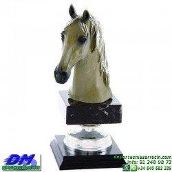 Trofeo Caballos 5658 equitacion doma cabeza premio pallart diferentes alturas tamaños chapa grabada