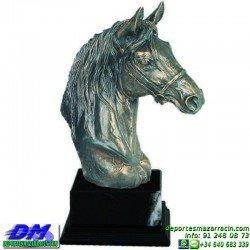 Trofeo Caballos 5663 equitacion doma cabeza premio pallart diferentes alturas tamaños chapa grabada