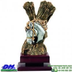 Trofeo Caballos 5665 equitacion doma cabeza premio pallart diferentes alturas tamaños chapa grabada