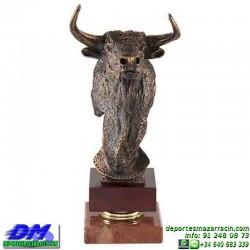 Trofeo Toros 5669 torear ganaderia recortes cabeza premio pallart diferentes alturas tamaños chapa grabada