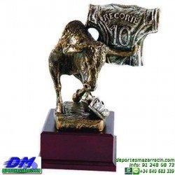 Trofeo Recortes 5670 torear ganaderia toros cabeza premio pallart diferentes alturas tamaños chapa grabada