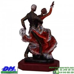 Trofeo Sevillanas 5671 andalucia baile bailarines premio pallart chapa grabada