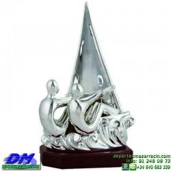 Trofeo Vela 5678 mar barco deporte agua premio pallart chapa grabada