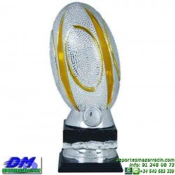 Trofeo Rugby 5696 jugador pelota diferentes alturas premio pallart tamaños chapa grabada