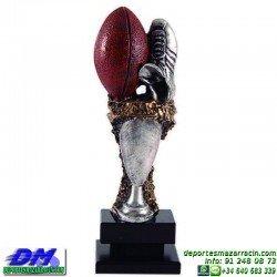 Trofeo Rugby 5698 bota pelota diferentes alturas premio pallart tamaños chapa grabada