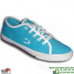 John Smith LANTA Azul Celeste Zapatilla Tela Mujer chica personalizar sportwear moda personalizar
