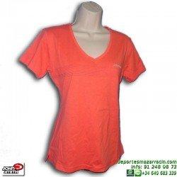 Camiseta Mujer JONH SMITH HIBRIDO Coral manga corta deporte ALGODON señora cuello pico
