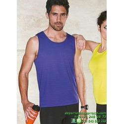 CAMISETA Tirantes POLIESTER Economica PROACT running hombre kpa441 correr deporte color sport entrenamiento grupo correr