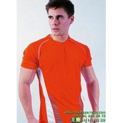 CAMISETA POLIESTER BICOLOR Economica TEC-7 SPORT hombre chico deporte manga corta correr color talla entrenamiento
