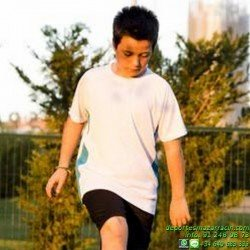 CAMISETA DEPORTIVA POLIESTER NIÑO Economica TEC-1B SPORT junior deporte manga corta correr color talla entrenamiento grupo