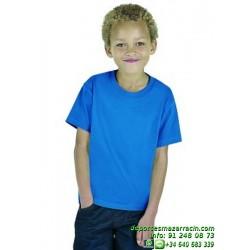 CAMISETA JUNIOR STARWORLD Economica Manga Corta deporte niño sport color entrenamiento grupo peña equipo personalizable
