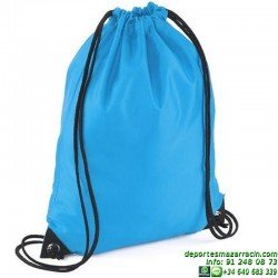 BOLSA GYMSAC Economica MOCHILA publicidad BAG sportwear deporte BG10 colores grupo asociacion EQUIPO