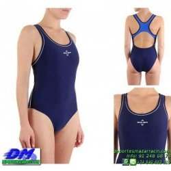 Bañador Natacion Mujer Squba 4013 COSMO AZUL MARINO piscina cubierta lycra chica softee deportivo talla color anticloro