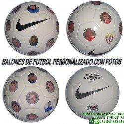 BALON futbol PERSONALIZADO FOTOS NIKE imagenes poner nombre fecha numero escudo SC1911-117