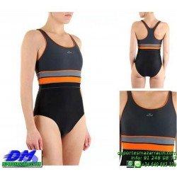 Bañador Natacion Mujer Squba 4002 SAMBA piscina cubierta lycra chica softee deportivo talla color anticloro