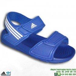 Adidas AKWAH 9 azul NIÑO sandalia chancla junior infantil playa piscina B39857