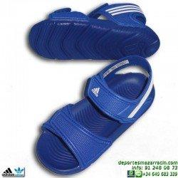 Adidas AKWAH 9 I azul BABY NIÑO sandalia chancla junior infantil playa piscina B40663