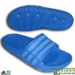 Chancla Adidas DURAMO SLIDE sandalia clasica AZUL CELESTE B44297 playa piscina