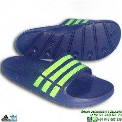 Chancla Adidas DURAMO SLIDE sandalia clasica AZUL MARINO G95489 playa piscina