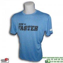 Camiseta Deporte JOHN SMITH PECIOLO Azul hombre manga corta sport poliester transpirable run running correr