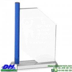 Trofeo Cristal Especial Grabación 5113 laser texto logotipo escudo diferentes alturas premio deporte pallart metacrilato