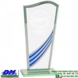 Trofeo Cristal Especial Grabación 5127 laser texto logotipo escudo diferentes alturas premio deporte pallart metacrilato